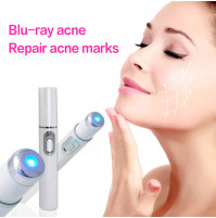 Blue Light Micro-current Therapy Acne Laser Ball Roller Pen Acne Scar Wrinkle Removal Treatment Tool for Face Care