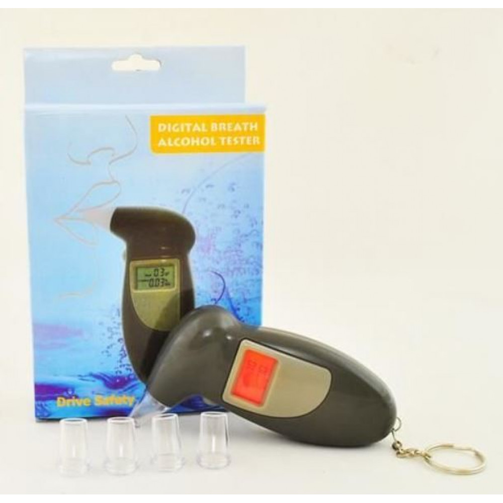 Alcohol tester with LCD screen, test and drive safely