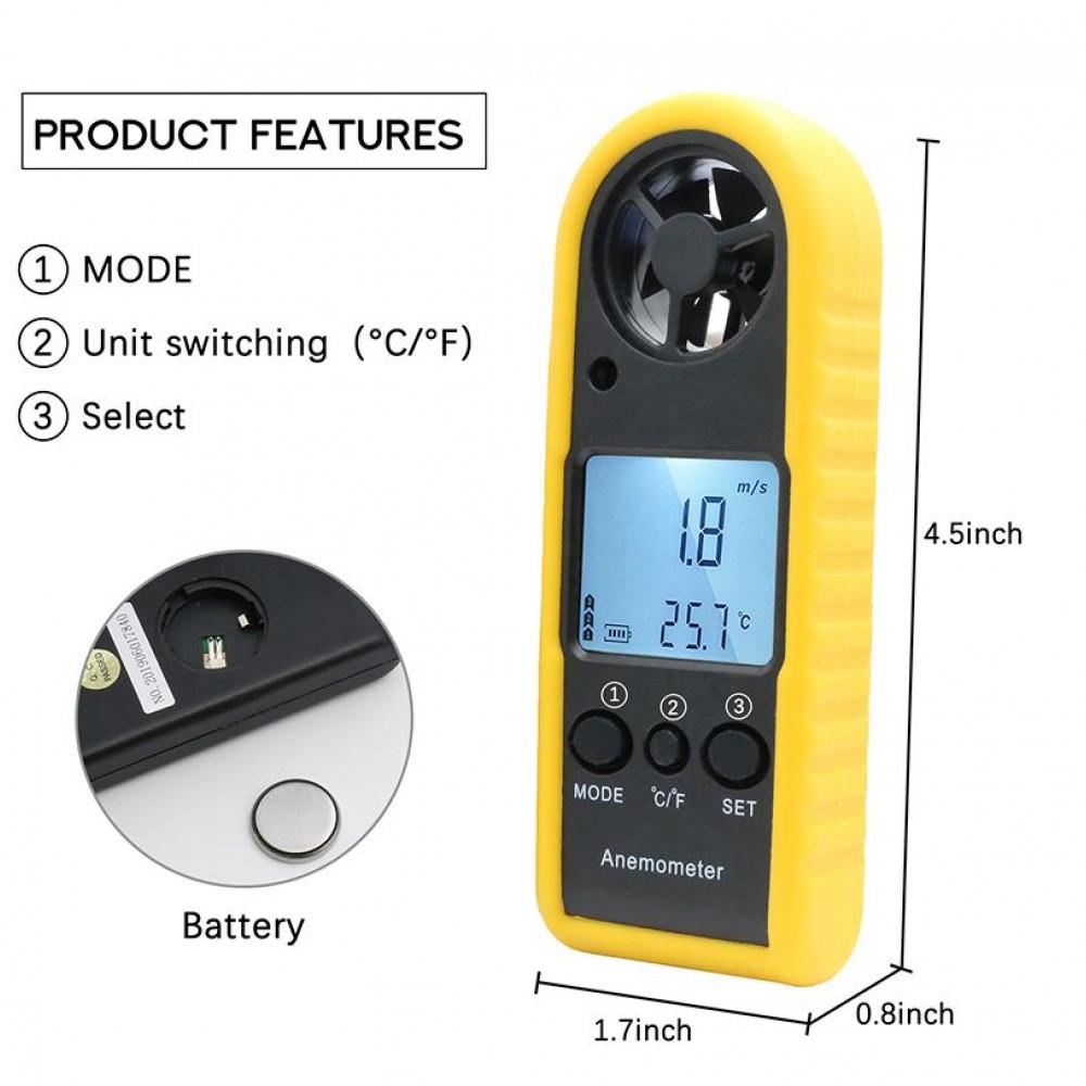 Anemometer, flow meter
