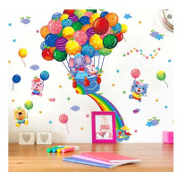 Childrens room wall decor - Animals on the balloon