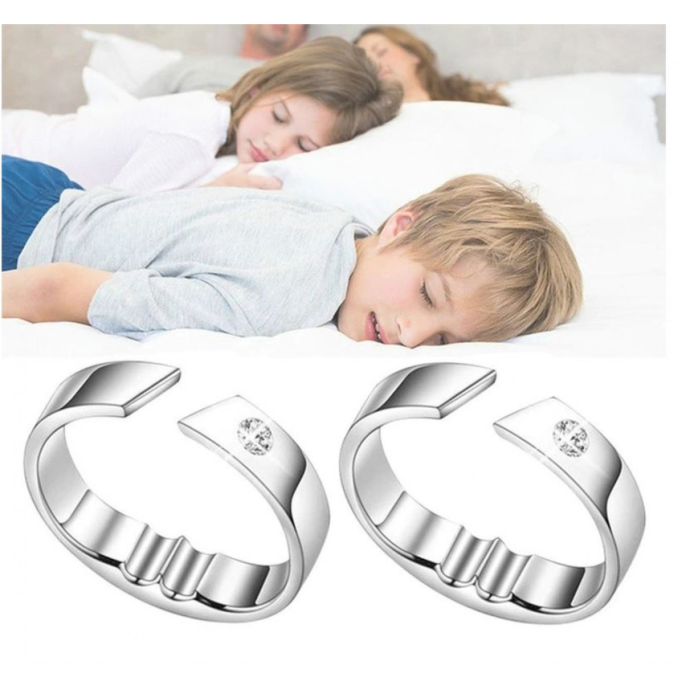 Universal size magnetic acupuncture ring Anti-snoring device for getting rid of snoring, sleep apnea