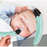 Electric nasal aspirator, for adults and children, with two interchangeable nozzles