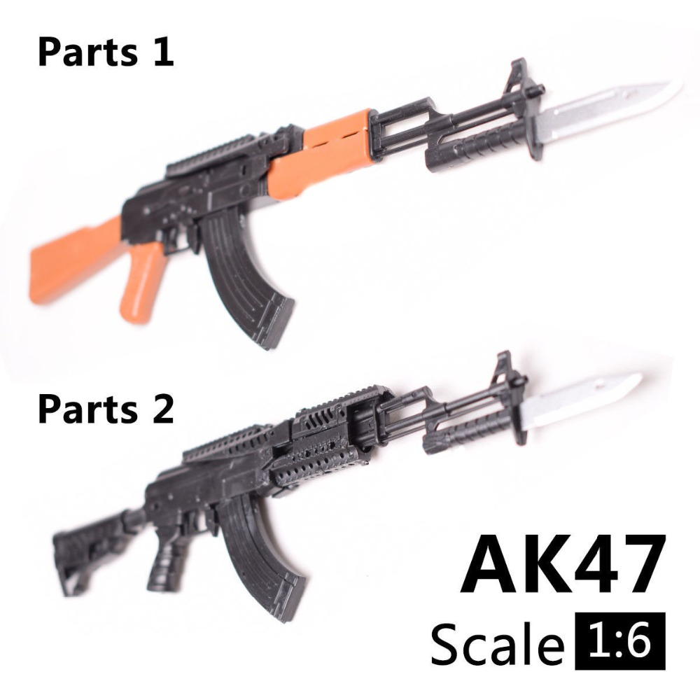 Collapsible Kalashnikov / M4 assault rifle scale 1:6