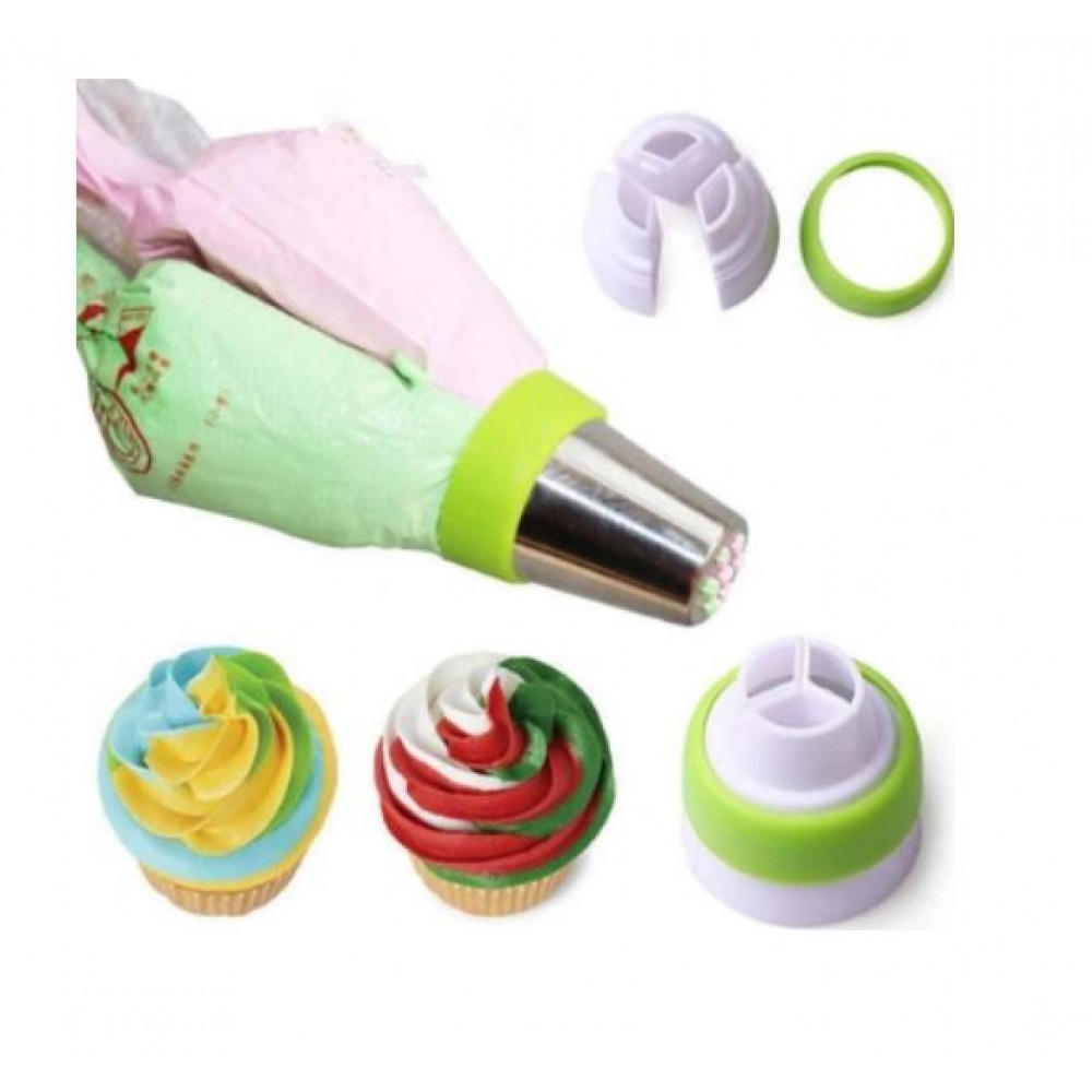 Nozzles 8 pieces + pastry sleeve, for decorating cakes, muffins, muffins, cookies, baking