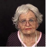 Elderly Lady or man Full Latex Mask