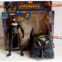 DC Justice League Collectible Action Figure & Kid's Comics Hero Mask - Batman