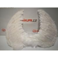 Белые крылья Ангела из перьев для фотосессий, карнавалов, вечеринок