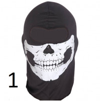 Stylish balaclava with skull for motorcyclists, bikers and active people