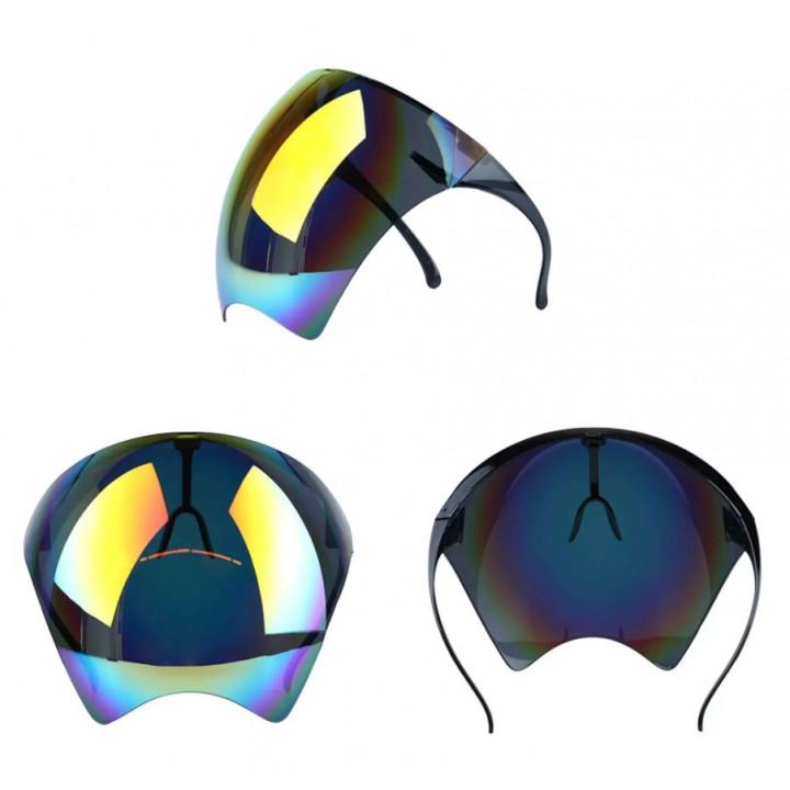 Stylish sunglasses - chameleon effect visor, anti-glare visor for motorcyclists, bikers, sportsmen