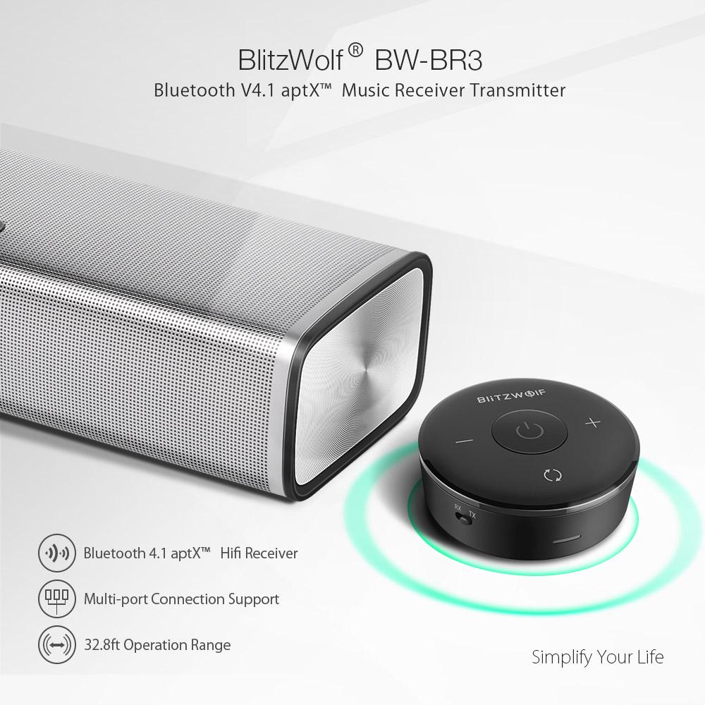 Blitzwolf BW-BR3 Bluetooth 4.1 Audio Receiver Transmitter