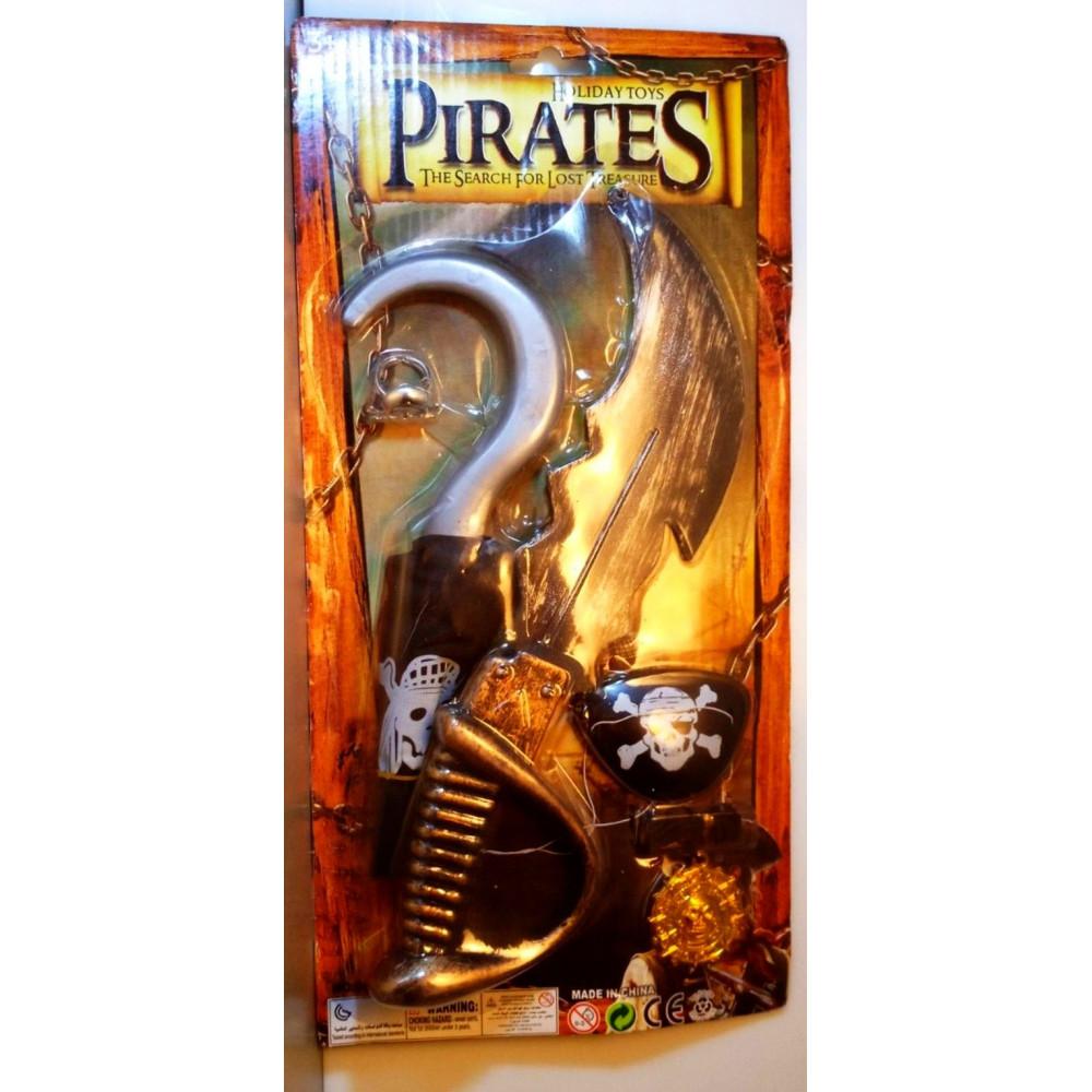 Childrens carnival set of pirate, viking, gladiator, warrior, knight armor