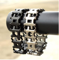 Men multitool bracelet made in the style of Leatherman Tread black
