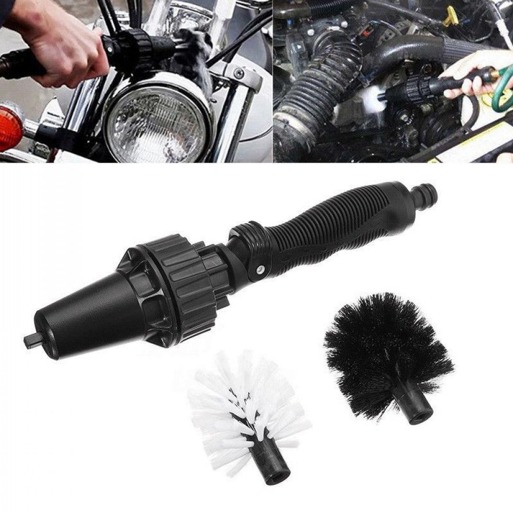 Brush Hero 360 Wheel Brush Hero - Car Wheel Cleaning Brush - Car Wash Accessories, Supplies - Attaches To A Hose to Clean your Car Rims, Motorcycles, Bicycles, BBQ Grills, Outdoor Furniture, Boats