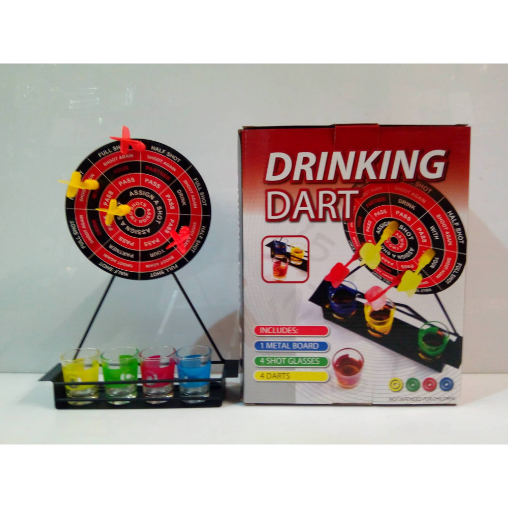Barwench Games' Shot Glass Drinking Darts Game