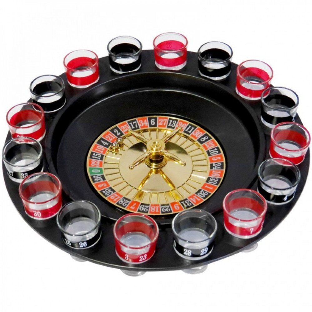 """Alcoholic game 18+ for parties """"Spin and Drink"""", roulette with a wheel and glasses, game for stag and hen parties"""