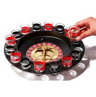 """Алкогольная игра 18+ для вечеринок """"Крути и пей"""", рулетка с барабаном и рюмками"""
