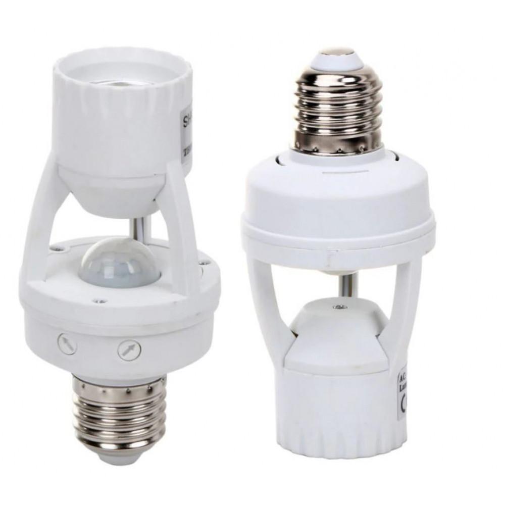 E27 bulb holder with PIR motion sensor