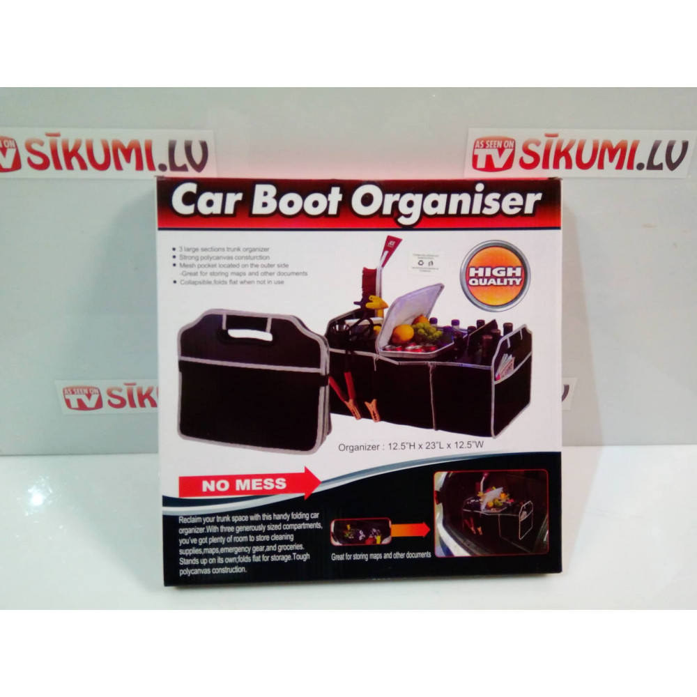 BLACK 2 IN 1 CAR BOOT ORGANISER SHOPPING TIDY