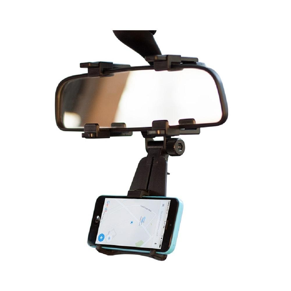 Car phone holder for mirror