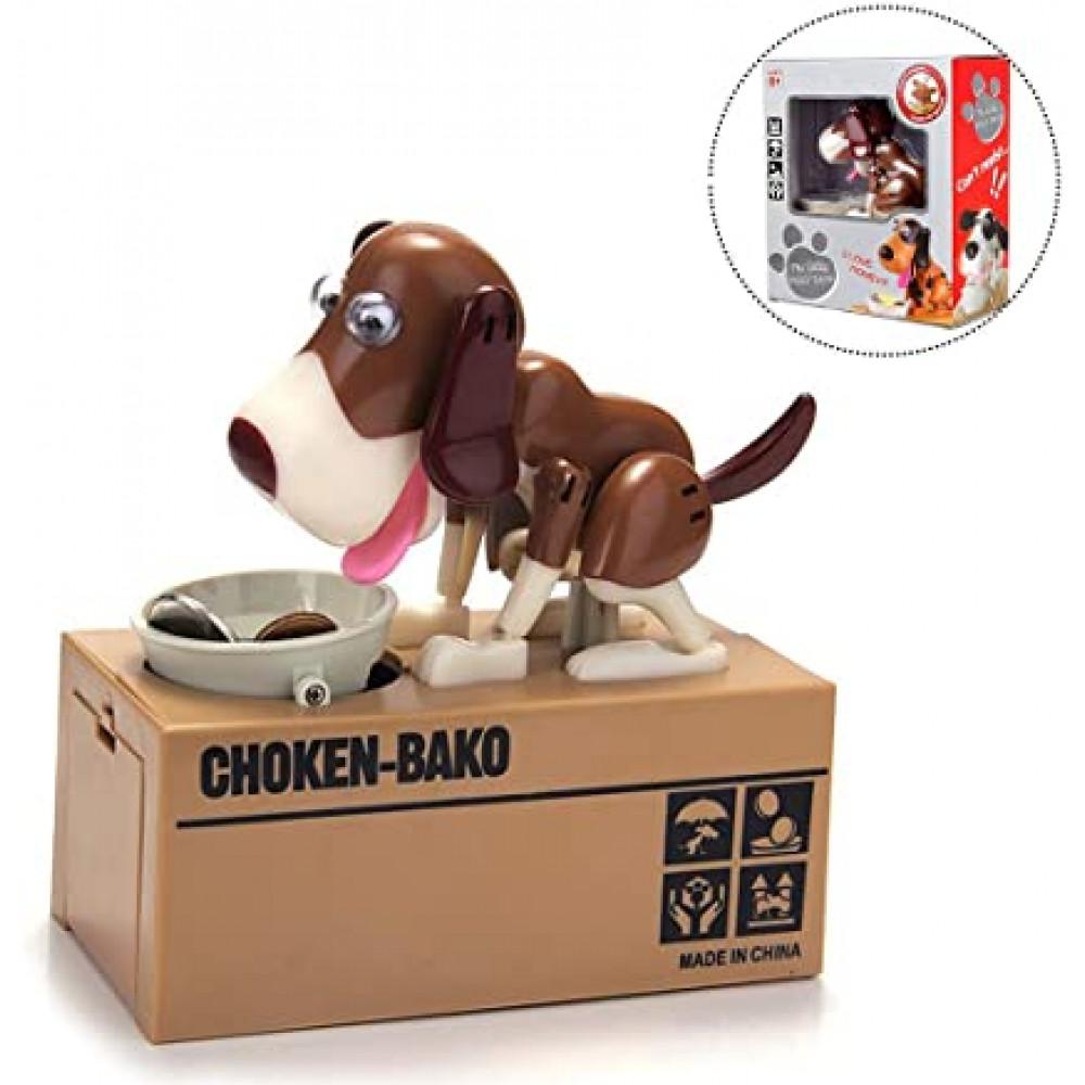 A present for a child, an automatic robotic piggy bank - a doggy 18 cm that eats coins