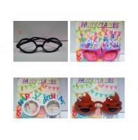 Smieklīgas brilles karnevāliem, ballītēm, Dzimšanas dienām, vecmeitu un vecpuišu ballītēm Party Glasses
