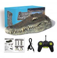 Radio-controlled boat - crocodile head