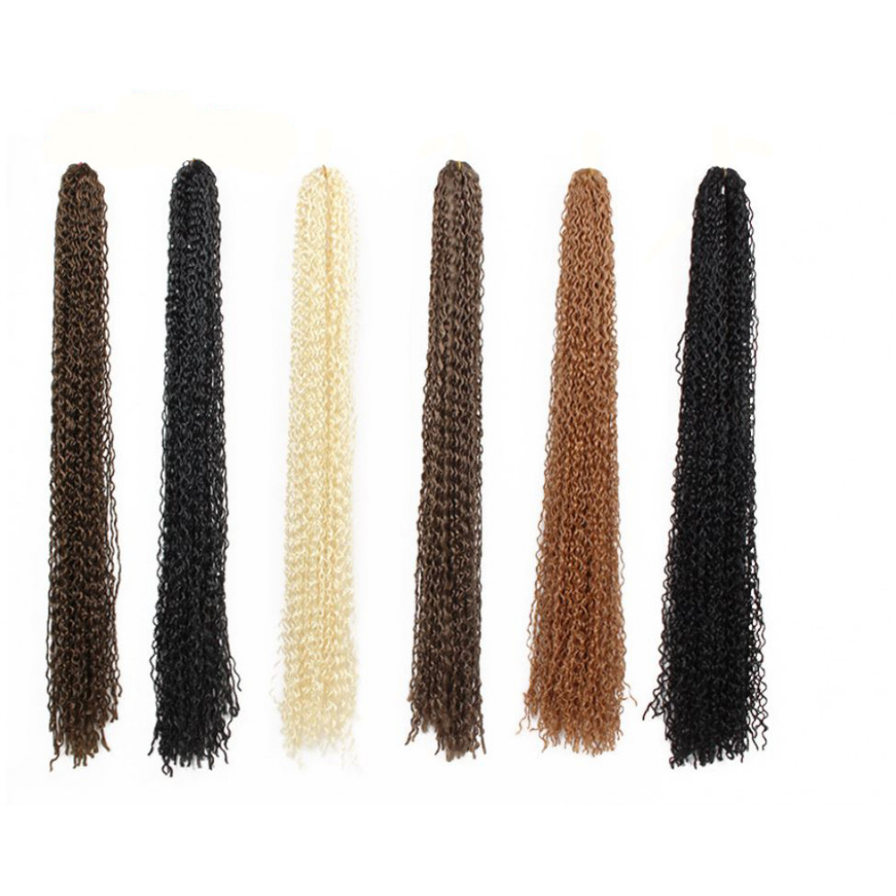 Hair extensions - stylish african zizi kanekalon natural colors curly braids
