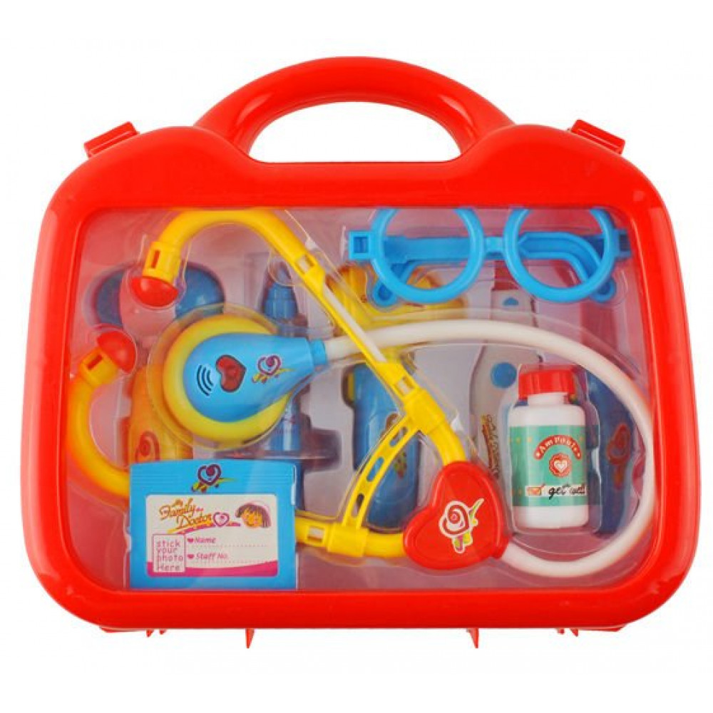 An educational interactive set of Doctor Little Doctor Playset for children, 10 elements with a suitcase