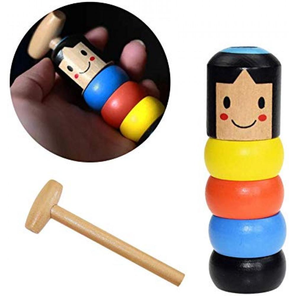 Japanese traditional wooden doll Darum DIY