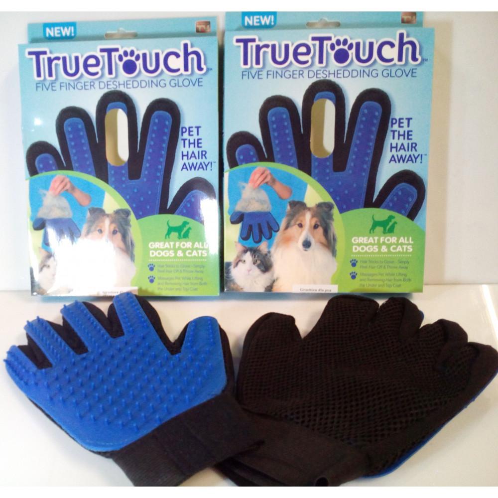 True Touch dzīvnieku ķemme - cimds mājdzīvnieku saudzīgai izķemmēšanai