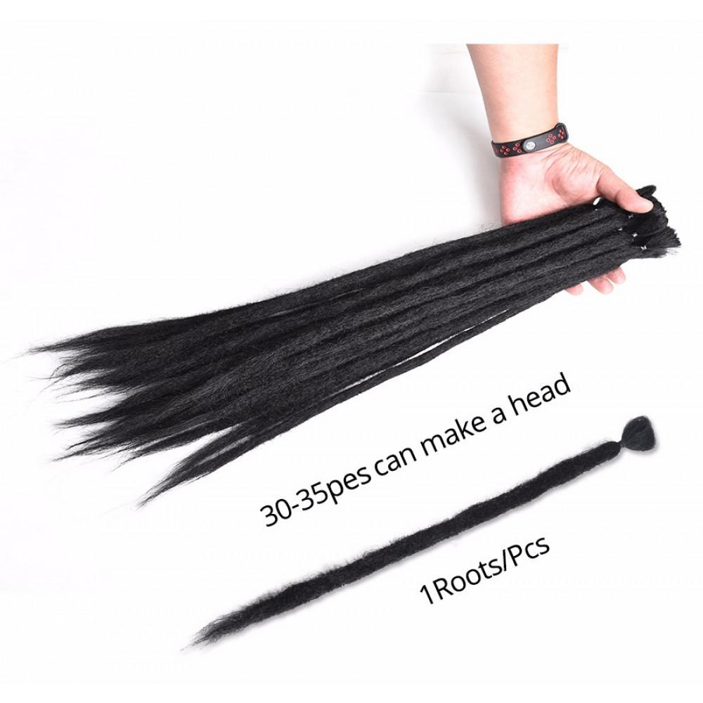 Roku darināti dredi - sintētiskie Kanekalon mati - 20 collu garš rasta dreds matu pieaudzēšanai