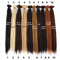 Leeons Handmade Dreadlocks Hair Extensions Crochet Hair Kanekalon Synthetic Hair 1Strands Dreadlock For Women And Men 20 Inch