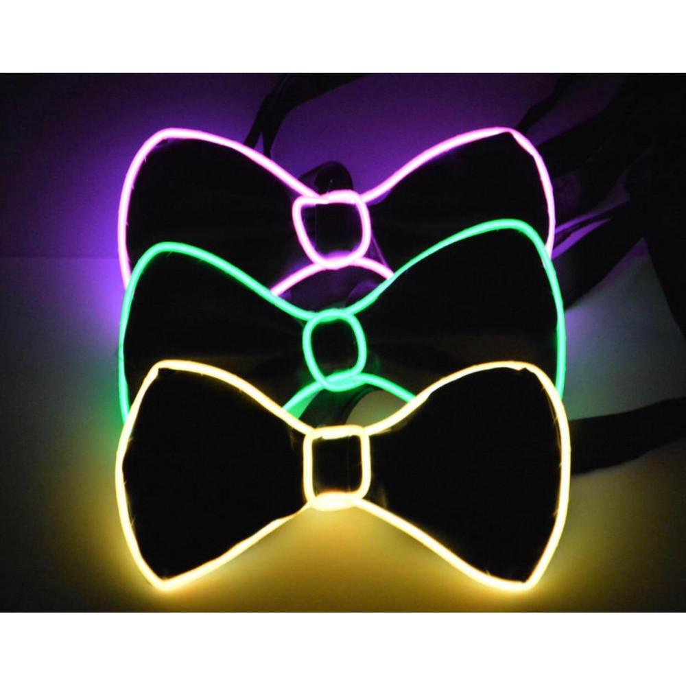 Skaņu atsaucīga LED kaklasaite - taurenis