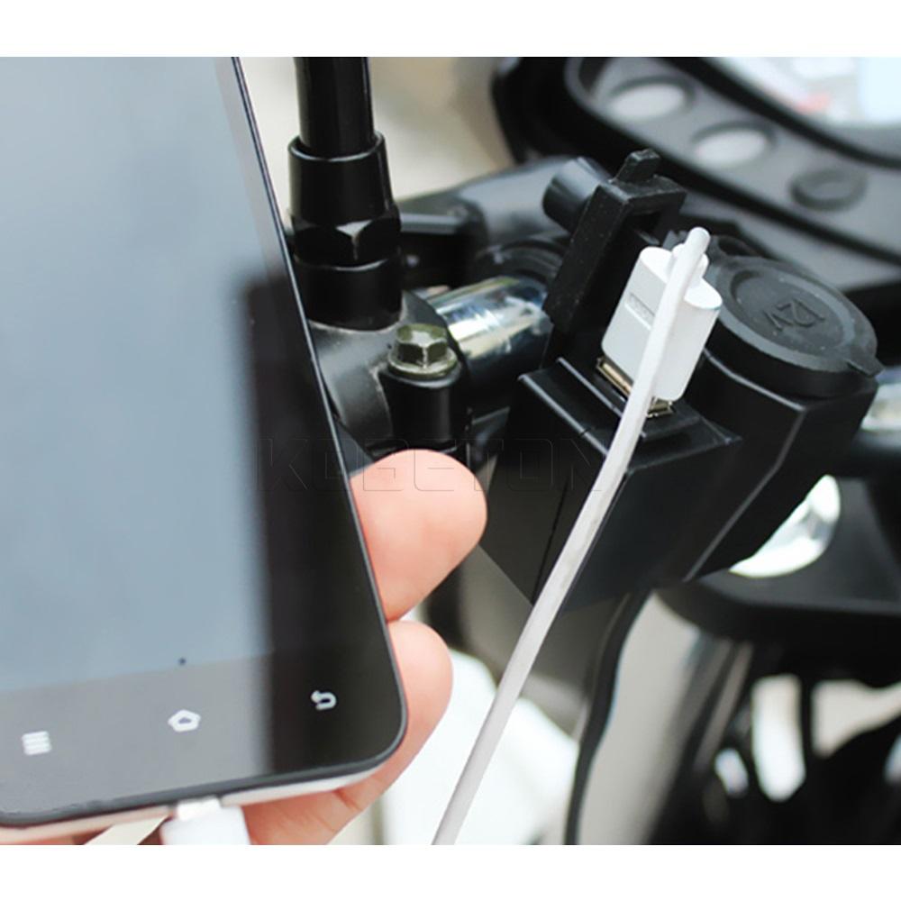12V Waterproof Motorcycle Car Cigarette Lighter & USB Charger