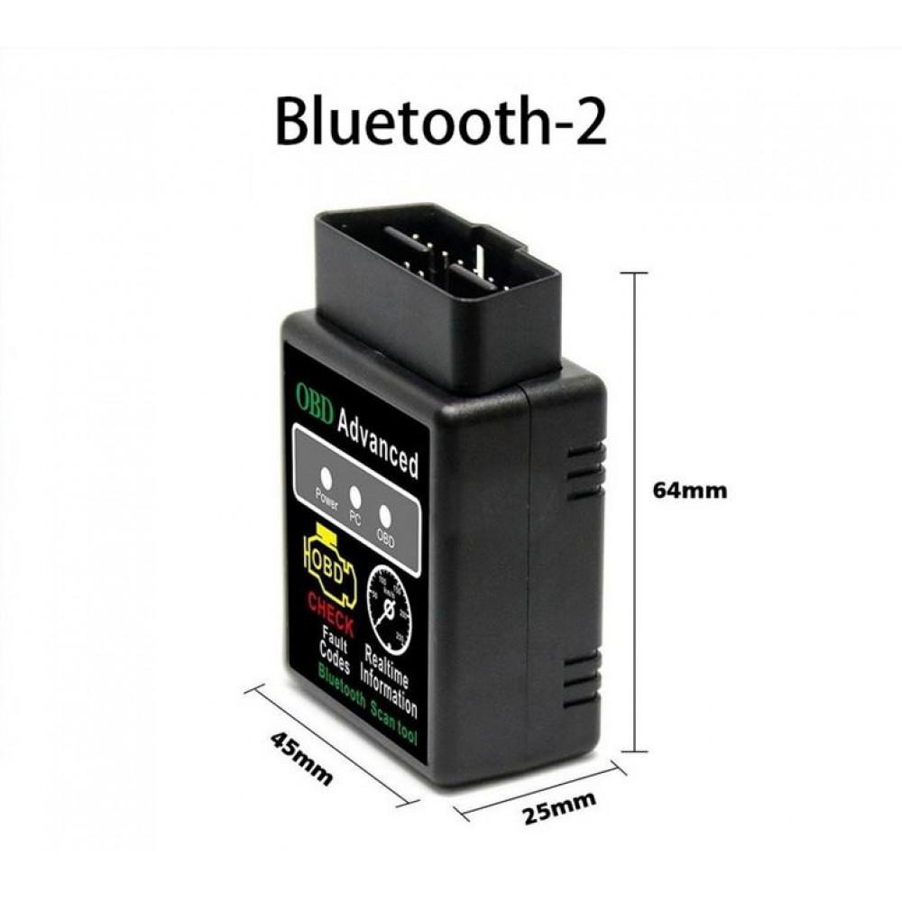 ELM327 Auto datora diagnostikas iekārta, saderīga ar PC un Android,  OBD autodiagnostikas bluetooth OBD - II- adapteris