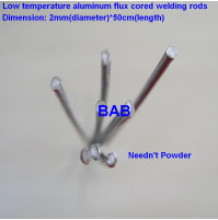 Aluminum solder for welding aluminum surfaces with with a low-temperature gas burner