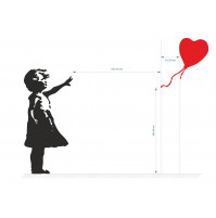 Famous Banksey Balloon Girl Graffity - Removable Vinyl Wall Stickers Decoration Decal Mural Room Family Art