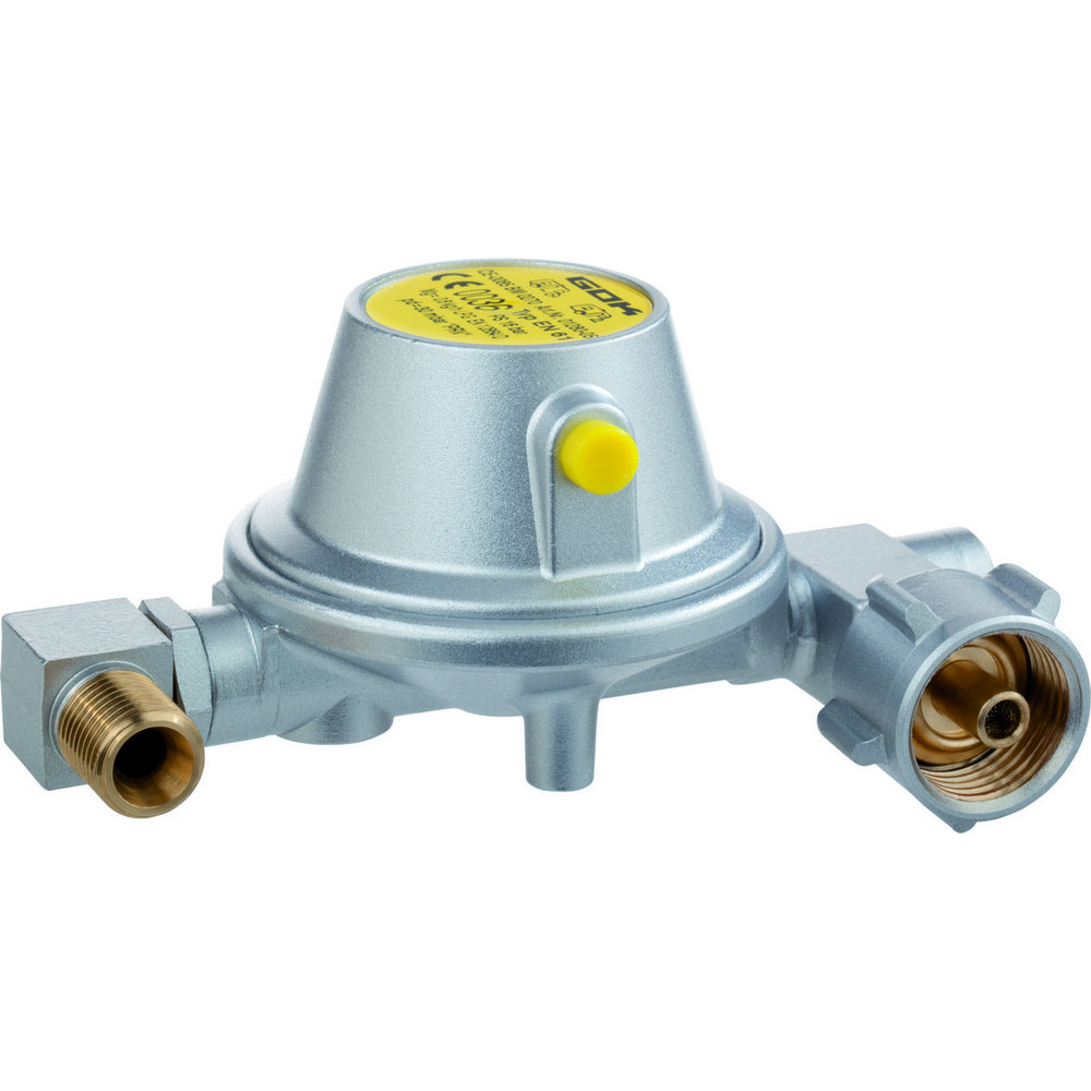 Gas regulator EN61 0,8kg / h 30mbar for connecting Gas ballon Campingaz R 907 to yachts and campers