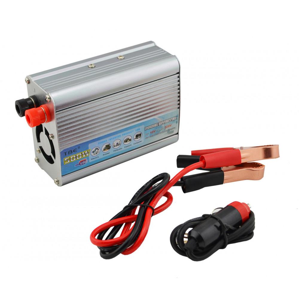 Strāvas pārveidotājs 12v uz 220v, Auto inverters 12V / 220V, 500W
