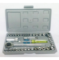 40pcs Combination Socket Wrench Set