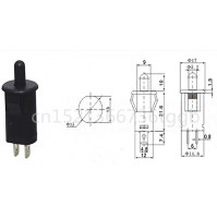 Door switch Refrigerator cabinet light disinfection cabinet Wardrobe Closed press button switch black