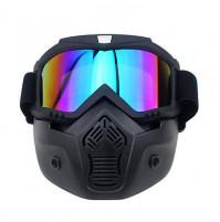 Detachable Motorcycle Goggles Glasses Mask for actve life
