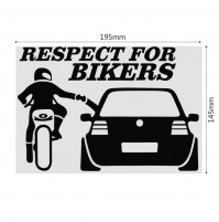 Sticker car decal - Respect for Bikers, Ass, Gass or Grass