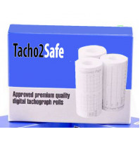 3 x standard Premium quality digital tachograph rolls 57/25 Termo (8m) for RS card Tachhograph and truck driver's card reader TACHO2SAFE, 3 x thermopaper rolls for every type of Tachos