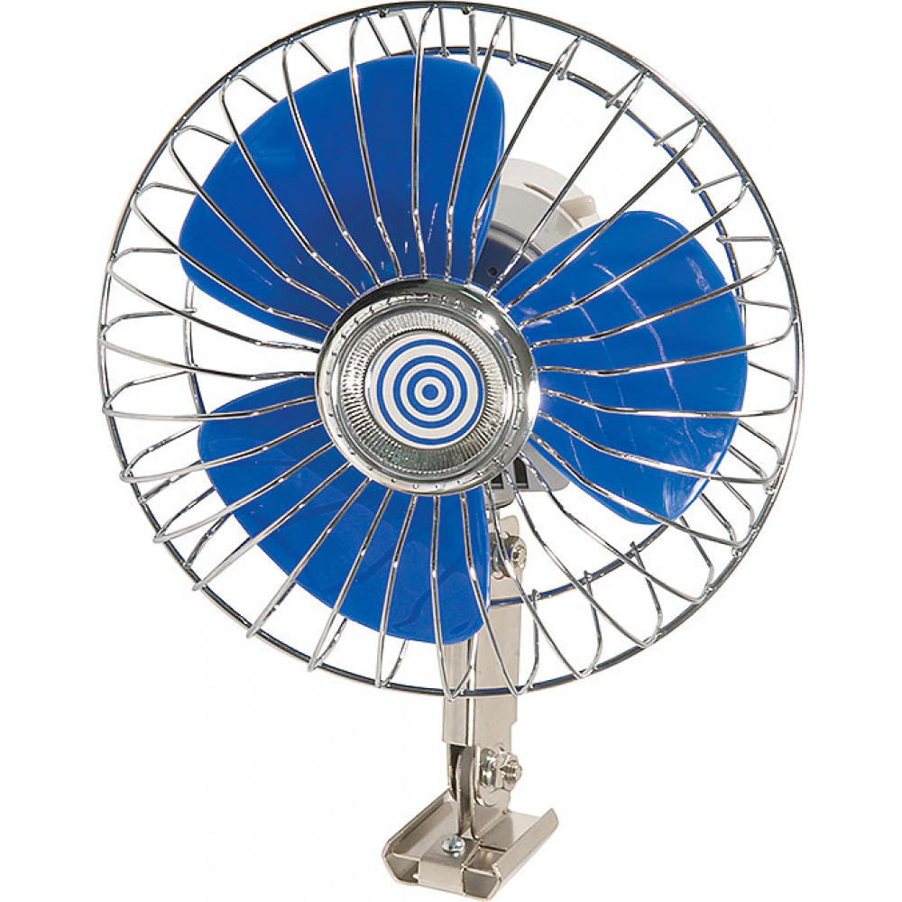 12 Volt oscillating fan for cars