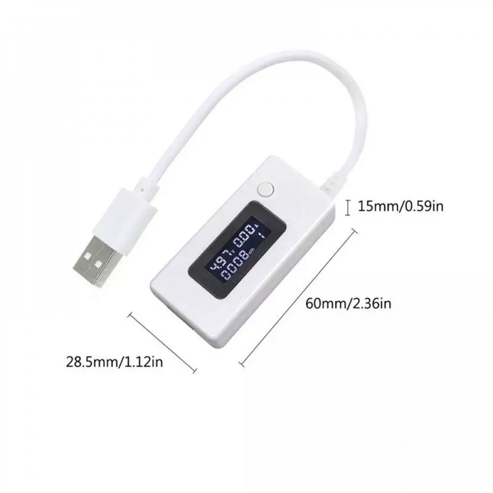 USB Detector Current Voltage Tester with mini-USB output