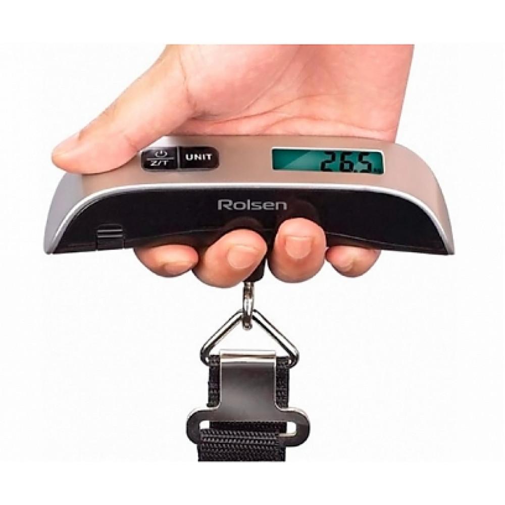 Elektroniskais bezmēns portatīvie ceļošanas vai makšķerēšanas svari Rolsen