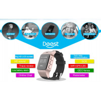 GPS wrist watch for elder people with GPS trackei, heart rate monitor and falling sensor
