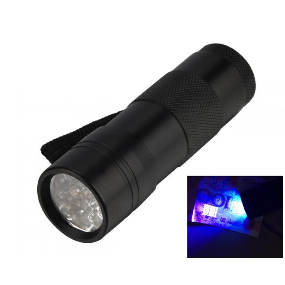 100 LED UV Light 395-400nm Flashlight Torch