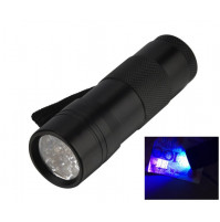 12 LED Flashlight Torch UV Ultra Violet Watermark Trademark Money Detector Light
